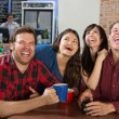 Stock Photo: Hysterical Group of People