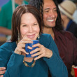 Smiling Interracial Couple — Stock Photo