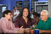 Multi Generational Group in Cafe — Stock Photo