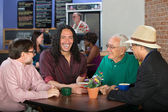 Diverse Men in Cafe — Stock Photo