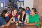 Cheerful Friends Socializing — Stock Photo