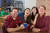 Hysterical Group of People — Stock Photo