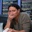 Stockfoto: Overwhelmed Restaraunt Worker