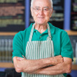 Cheerful Cafe Employee — Stock Photo