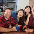 Group of Laughing Friends — Stock Photo