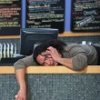 Stressed Out Cafe Owner — Stock Photo
