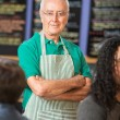 Senior Coffee House Owner — Stock Photo