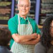 Senior Coffee House Owner — Stock Photo #33039845