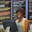 Gorgeous Cafe Owner — Stock Photo