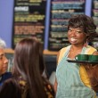 Cheeful Female Cafe Owner — Stock Photo