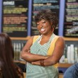 Confident Cafe Worker — Stock Photo