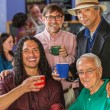 Diverse Men in Coffee House — Stock Photo