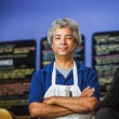 Confident Cafe Owner — Stock Photo