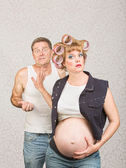 Frustrated Man with Pregnant Woman — Stock Photo
