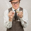 Goofy Drunk Man — Stock Photo