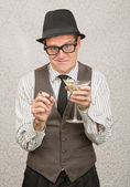 Smirking Drunk Man — Stock Photo