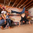 Capoeira Performers Flipping — Stock Photo