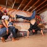 Постер, плакат: Capoeira Performers Flipping