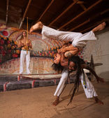 Capoeira Performers Shoulder Throw — Stock Photo