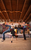Female Capoeira Performers — Stock Photo