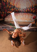Capoeira Performers Doing Throws — Stock Photo