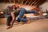 Pair of Capoeira Artists — Foto Stock