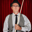 Stock Photo: Pool Player in Pinstripe