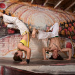 Mixed Capoeira Experts — Stock Photo