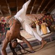 Capoeira Cartwheel — Stock Photo