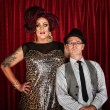 Drag Queen and Retro Man — Stock Photo