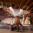 Capoeira Man in Handstand — Stock Photo