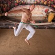 Capoeira Twisting Kick — Stock Photo