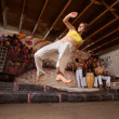 Flexible Capoeira Woman — Stock Photo