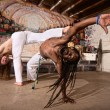 Expert Capoeira Performers — Stock Photo