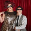 Stock Photo: 1960s Retro Drag Queen with Man