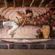 Handsome Capoeira Man Flipping — Stock Photo