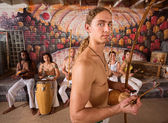 Handsome Capoeira Berimbau Performer — Stock Photo