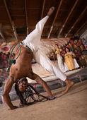 Capoeira Cartwheel — Stock Photo