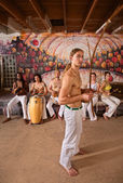 Capoeira Performers Together — Stock Photo