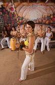 Capoeira Berimbau Musician with Friends — Stock Photo