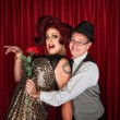 Man Holding Drag Queen — Stock Photo #36891613