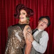 Tall Drag Queen with Friend — Stock Photo