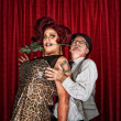 Dramatic Drag Queen with Man — Stock Photo #36891657
