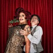 Stock Photo: Dramatic Drag Queen with Man