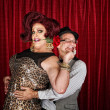 Foto Stock: Happy Drag Queen with Partner