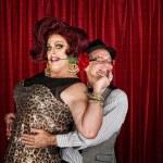 Happy Drag Queen with Partner — Stock Photo
