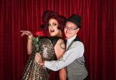 Man Holding Drag Queen — Stockfoto