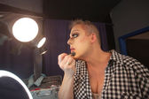 Man Preparing for Drag Queen Show — Stock Photo