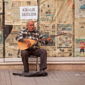 Turkish Street Musician — Stock fotografie