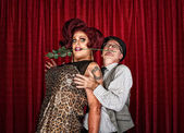 Dramatic Drag Queen with Man — Stock Photo